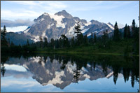 mt. shuksan at picture lake