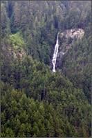 waterfall at hells gate tram