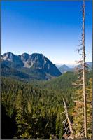 eagle peak at the western end of the tatoosh range