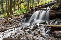 small waterfall downstream from bridal falls on bridal creek