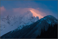 nodoubt peak - part of Mount Redoubt - alpenglow