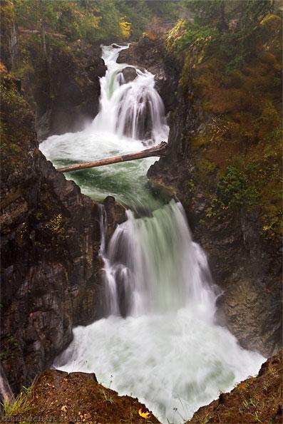 little qualicum falls at little qualicum falls provincial park near qualicum beach parksville british columbia