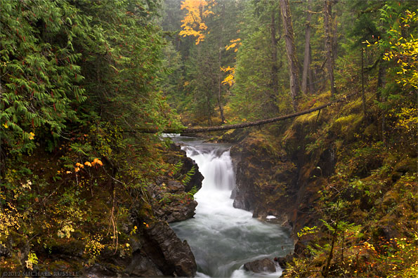 fall colours little qualicum falls at little qualicum falls provincial park near qualicum beach parksville british columbia