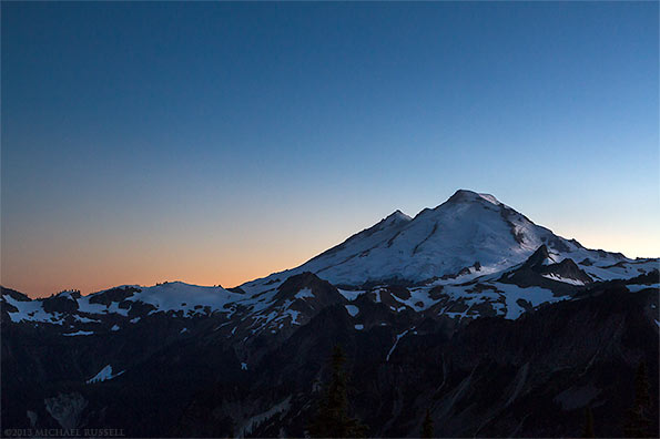 mount baker artist point sunset glaciers