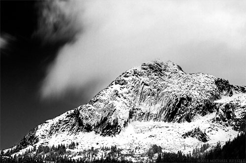 mount webb black and white chilliwack lake british columbia
