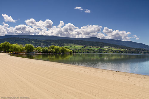 kal beach in vernon british columbia on a spring morning