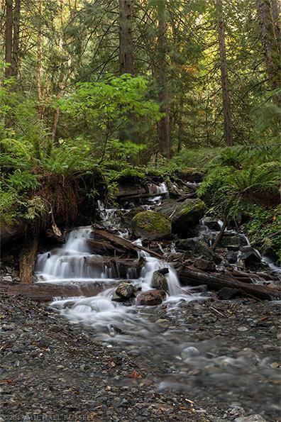 waterfall on bridal creek in bridal veil falls provincial park