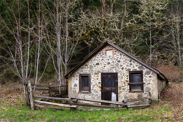 root cellar built by richard maxwell at burgoyne bay provincial park on salt spring island