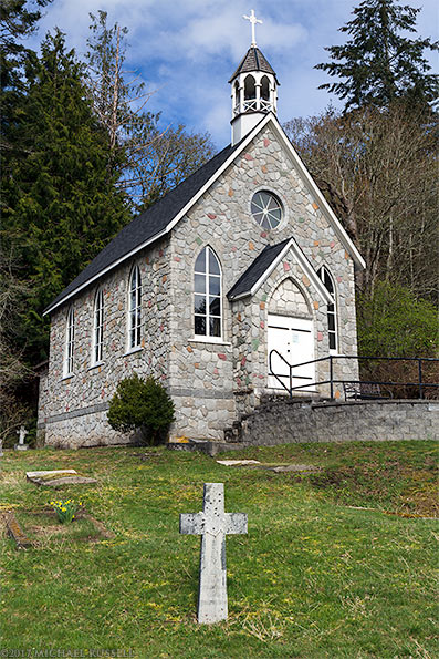 st pauls church and cemetery at fulford harbour salt spring island