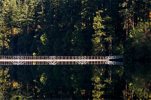 floating bridge at sasamat lake