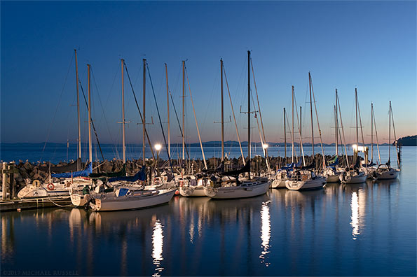 boats in the marina at white rock pier