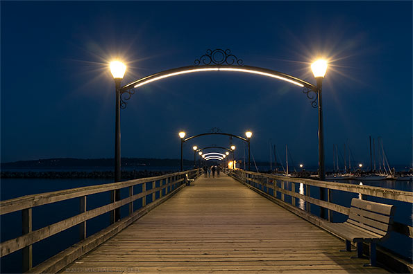 walking along the white rock pier