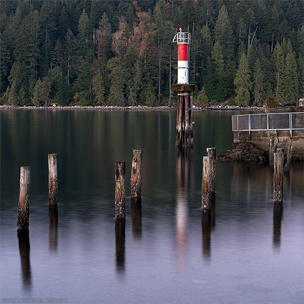 lighthouse at barnet marine park in burnaby