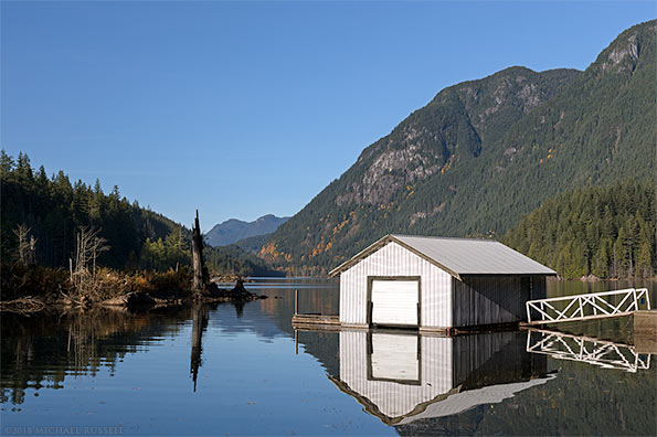 boat house at buntzen lake