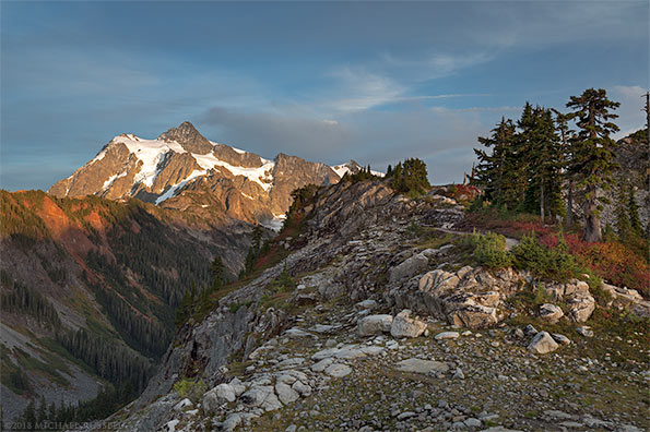 mount shuksan evening sunset huntoon point