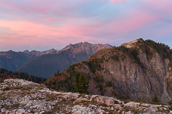 sunset shuksan arm mount sefrit mountains north cascades