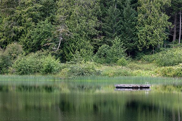 swimming platform st mary lake on salt spring island