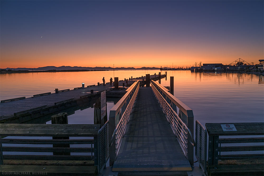 sunset steveston harbour imperial landing docks