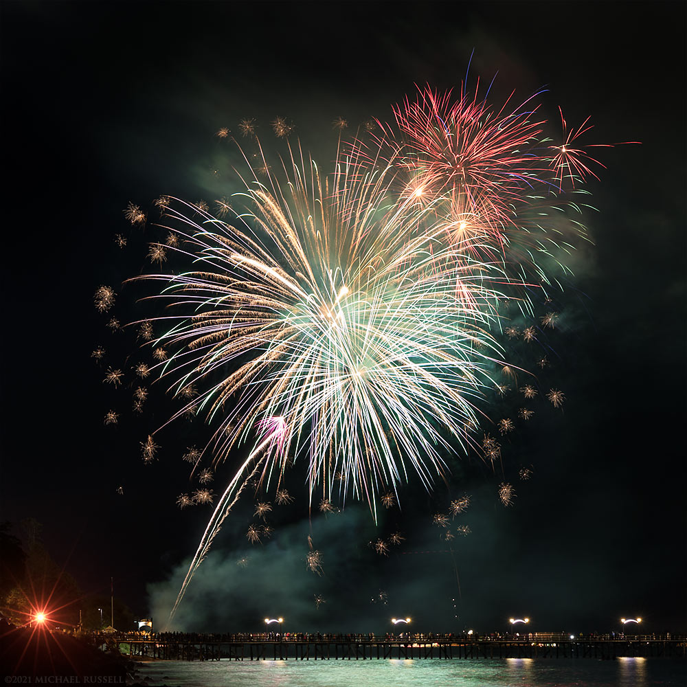 fireworks display at white rock pier canada 150