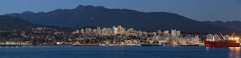 north vancouver and mount seymour from brockton point in stanley park