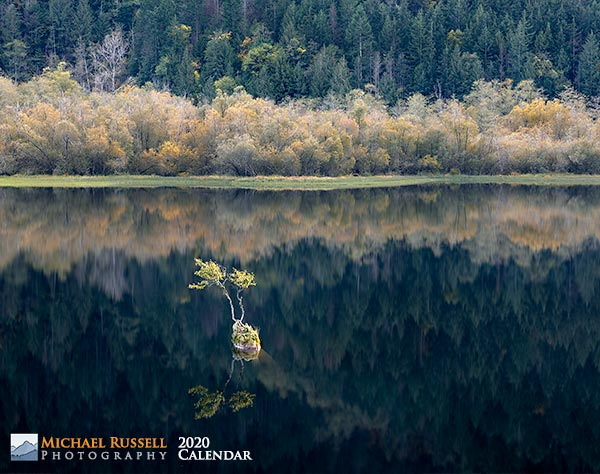 cover for 2020 british columbia nature calendar - silver lake provincial park