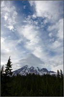 mt rainier clouds