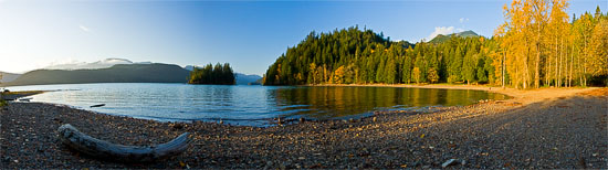 harrison lake panorama