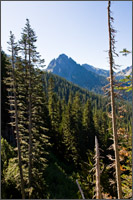 lane peak at the western end of the tatoosh range