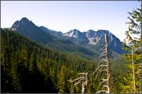lane and eagle peak at the western end of the tatoosh range