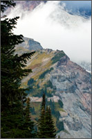 nisqually glacier and wapowety cleaver on mt rainier