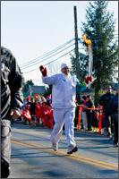 3rd olympic torch bearer on fraser highway