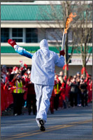 3rd olympic torch bearer on fraser highway