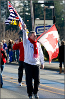 school parade of olympic country flags