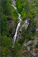 waterfall above the fraser canyon at hells gate