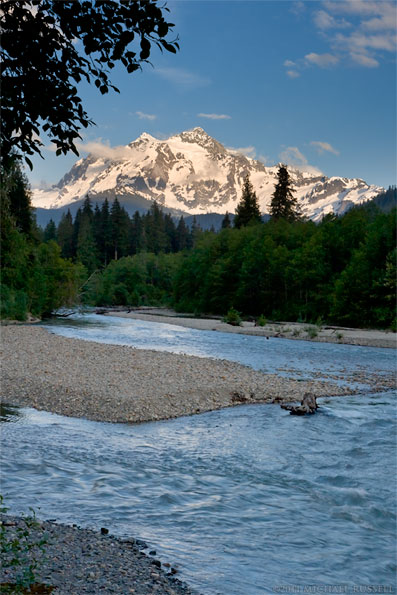 mount shuksan and nooksack river washington