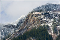 ogilvie peak near hope bc fresh spring snow