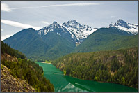 diablo lake and davis peak in north cascades national park