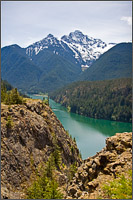 diablo lake and colonial peak in north cascades national park