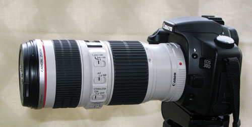 canon ef 70-200 f/4l is without hood