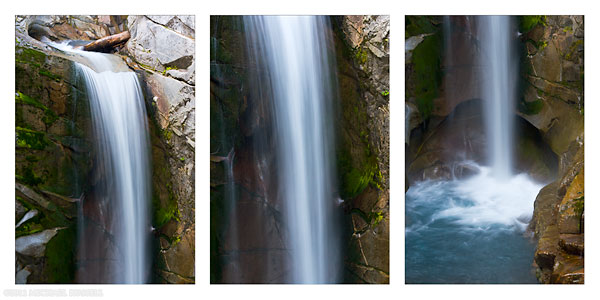 christine falls triptych in mount rainer national park washington state