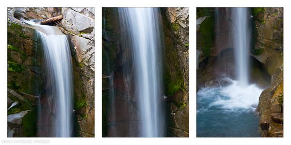christine falls triptych in mount rainer national park washington state