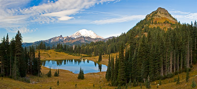 mt rainier tipsoo lake yakima peak