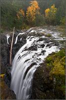 fall color englishman river falls in the englishman river falls provincial park in the nanaimo regional district british columbia canada