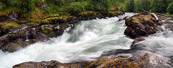 skutz falls along the cowichan river in cowichan river provincial park