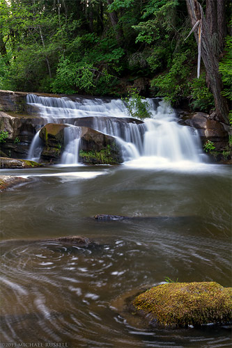 millstone river waterfall at bowen park in nanaimo, british columbia