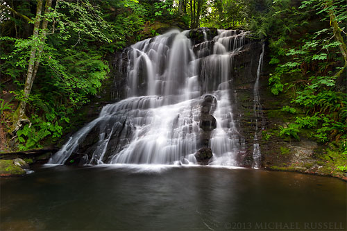 chase river falls in colliery dam park in nanaimo british columbia canada