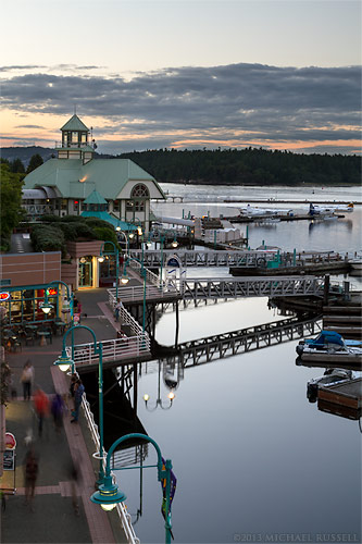 boardwalk harbourfront walkway in nanaimo, british columbia
