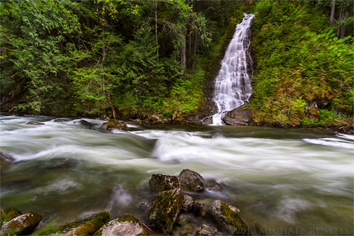 eureka falls and silverhope creek in the skagit valley near hope british columbia