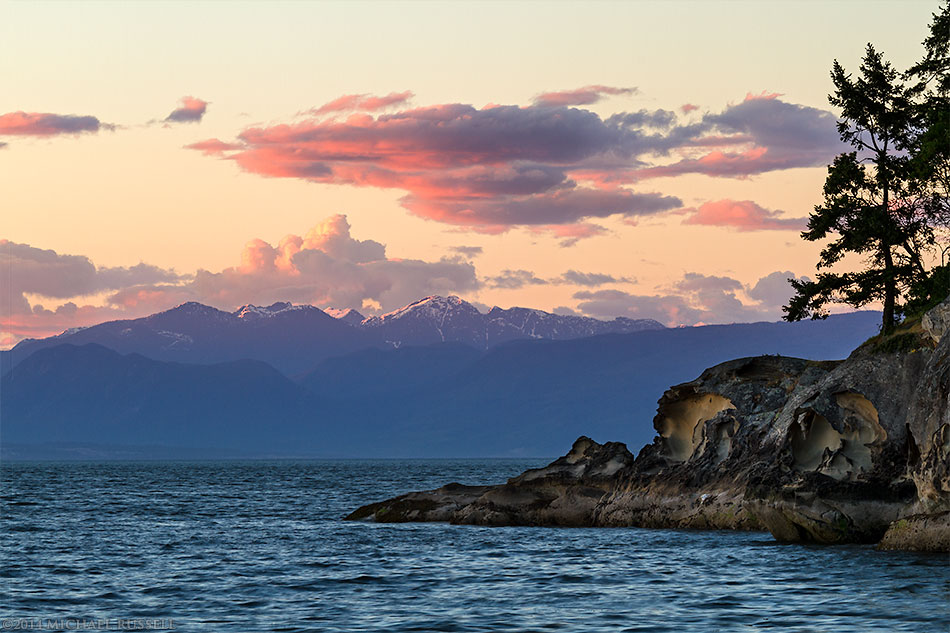 sunset at jack point in biggs park nanaimo