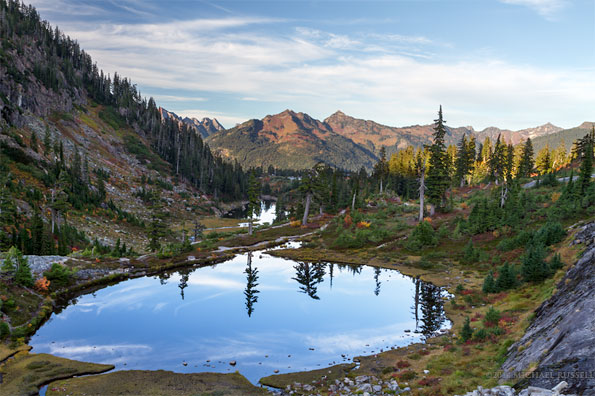 austin pass lake in heather meadows north cascades